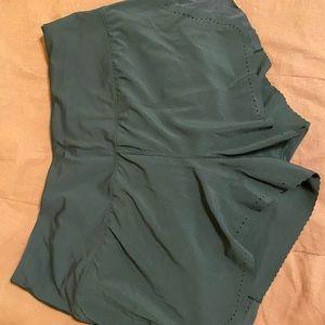 Lululemon laser cut black shorts